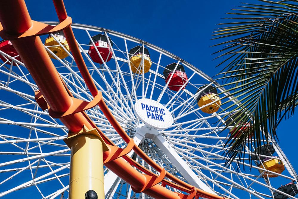 santa monica pier roller coaster-19