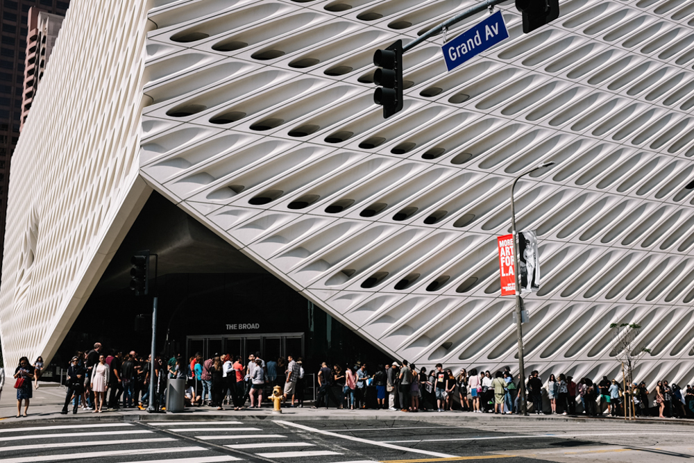 the broad museum downtown los angeles california