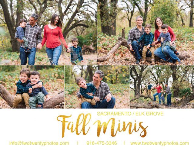 Fall Mini Sessions Sacramento Elk Grove Family Photographer