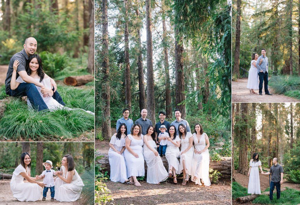 UC Davis arboretum fall family photos
